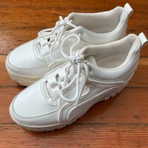 Madden Girl Spiice Chunky White Sneakers